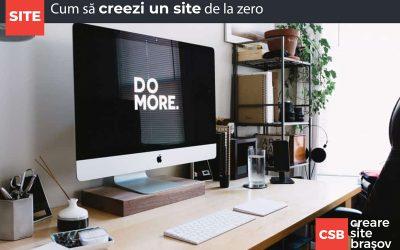 Cum să creezi un site de la zero